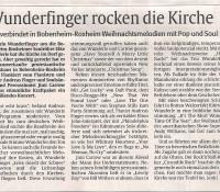 28.11.2012 Adventskonzert WunderFinger, prot. Kirche, Bobenheim-Roxheim